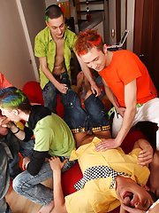 Teen gays group and nude mens group at Crazy Party Boys