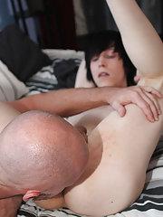 In his ass bi mature cuckold and...