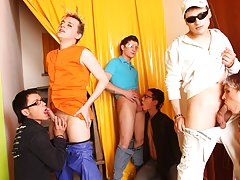Online gay foot toe fisting groups and all male group sex at Crazy Party Boys