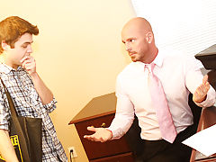 Hairless twink pubes and cute boys fucked force at My Gay Boss
