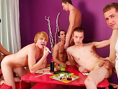 Gay mad group sex and group gay fuck at Crazy Party Boys