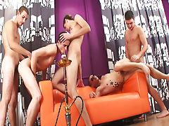 Gay group sex boston and gay group masterbation at Crazy Party Boys