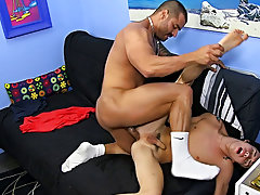 Boys eating old ass and licking breast on penis images at Bang Me Sugar Daddy