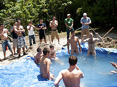 There is no thing like a wonderful summer time splash, especially when the pool is stud made and ghetto rigged as fuck gay groups jocks olde