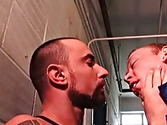 Finally, teasing Matt with his throbbing head, Ben gets him to push against his dick, feeling it slide deep into him until both studs are breathless w