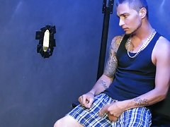 Someone ends up getting a nice load of juicy cum all over him extreme gay blowjobs at Backroomfuckers
