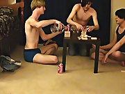 "Trace and William get jointly with their fresh friend Austin for the second installment of ""game night gay twinks cock - at Boy Feast! beautiful nude boys"