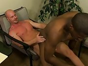 JP acquires down to service Mitch's hard ramrod in advance of that guy impales himself and rides it black cock interracial gay at My Gay Boss