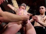 Men milking sleeping and...