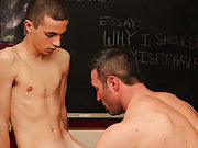 Conner Bradley writes an apologetic essay after misbehaving, but his teacher Brock Landon decides to try a little corporal punishment top teen boy twi