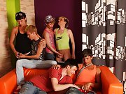 Gay butt fuck group and hold him down ass fucking gay group sex at Crazy Party Boys