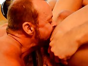 Sexy hot gay kissing with...