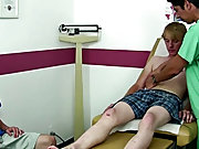 Both boys were getting really turned on so I had Corey get onto the exam table to examine his cock a lot closer and also check his prostrate gay anal
