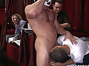 Macho straight men gay sex...