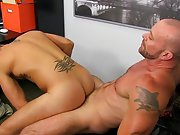 Gay anal double fucking photo and man having anal sex with male calf at My Gay Boss