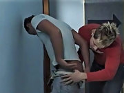 Doctor Garret is a bareback sex junkie and during the time that working a sex-toy into his patient's ass, some other patient walks in gay oral gr