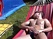 Arseplay in the afternoon!! These 2 black haired smooth young Twinks receive hard at it underneath the summer sun gay outdoor sex voyeur men