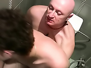 Jake was happy to oblige, and slurped on his young cock and tight butthole to brief it for the unavoidable pounding on the toilet gay hunks hardcore gay  sex stories
