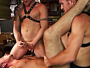 Soon all three chaps are feasting on each other's meaty cocks, sometimes ramming a head down hard or face fucking with force gay groups for se at
