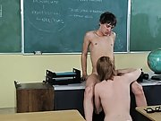 It's after school and a geeky  is getting a pep talk from a smokin' hot male teacher free gay cock sucking twin at Teach Twinks famous gay athletes