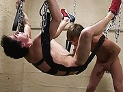 Steady flow of precum keep oozing out from the narrow cock slit gay teenagre male bondage boys