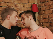 Rookie guys Kiko and Dominik are a unite of struggling DJ's who are nearby to rotate more than just tables male men man hunks studs sucking old men cock