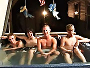 We got 4 boys: Tanner, Dakota, Tommy, and Josh all in the hot tub, at to create it one hell of a confederation gay porn group ass fucking gay sex acts bondage