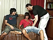 The three unoccupied up caught in a hawser, plugged into each other, and then both handsome twinks set on the face of their teacher groupsex gangbang