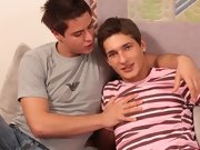 James gets fucked every which way, entrancing his bud's cock deep, long and hard first gay cock