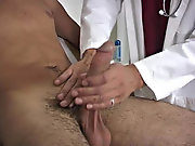 The doc told me that he wanted to take my temperature, and he had me get on all s hairy gay hunk
