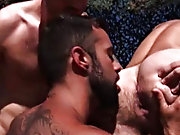 The vacation draws to an end, but it doesn't go without a bang gay shower hunks at Alpha Male Fuckers