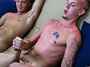 I had both guys take off their underwear, so that they could be fully naked for us gay twinks high school