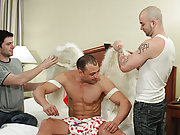 Needles to say, when Sam and Johnny hit the row and Brad got his first look at their tremendous cocks, he could not cool one's heels to take thes